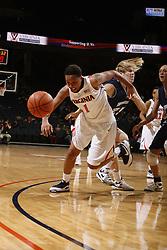 The Virginia Cavaliers women's basketball team defeated the Monmouth Hawks 71-45 at the John Paul Jones Arena in Charlottesville, VA on December 18, 2008.