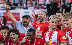 26.05.2019, Red Bull Arena, Salzburg, AUT, 1. FBL, FC Red Bull Salzburg Meisterfeier, im Bild Trainer Marco Rose (FC Red Bull Salzburg) und Betreuer feiern // during the Austrian Football Bundesliga Championsship Celebration at the Red Bull Arena in Salzburg, Austria on 2019/05/26. EXPA Pictures © 2019, PhotoCredit: EXPA/ JFK