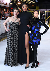 Kristen Stewart, Ella Balinska and Naomi Scott attending the UK Premiere of Charlie's Angels held at the Curzon Mayfair in London. Picture credit should read: Doug Peters/EMPICS