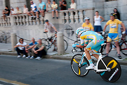 Cyclist of Astana during chronometer (17,8km) of Tour de Slovenie 2012, on June 17 2012, in Ljubljana, Slovenia. (Photo by Urban Urbanc / Sportida.com)