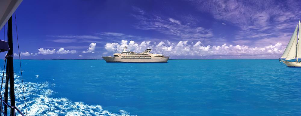 Marathon Florida Keys; Intercoastal Waterway; CGI Backgrounds, ,Beautiful Background
