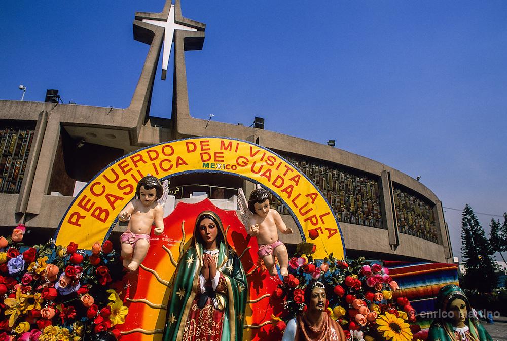 Pilgrims at Guadalupe church.