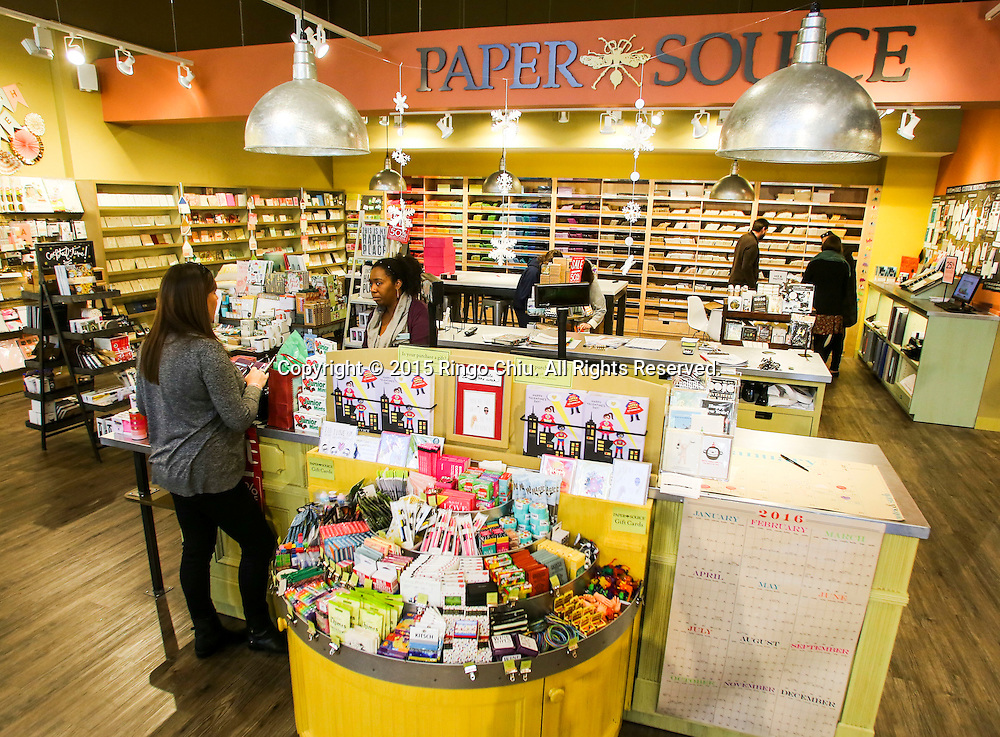 Paper Source, stationary store in Westwood.<br /> (Photo by Ringo Chiu)<br /> (Photo by Ringo Chiu/PHOTOFORMULA.com)<br /> <br /> Usage Notes: This content is intended for editorial use only. For other uses, additional clearances may be required.