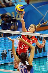 Belgium Laura Heyrman spikes