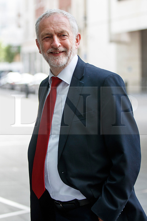 © Licensed to London News Pictures. 11/06/2017. London, UK. Labour leader JEREMY CORBYN arrives at BBC Broadcasting House in London to appear on The Andrew Marr show on Sunday 11 June 2017. Photo credit: Tolga Akmen/LNP