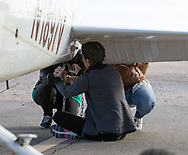 Spot landing contest on April 1, 2017 at Ak-Chin Regional Airport near Maricopa, AZ.  Some of the 99s camped overnight and were joined by Andy Estes of Desert Rat Aviation and Tim Costello, airport manager.<br />