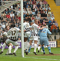 Photo: Leigh Quinnell.<br /> Notts County v Bury. Coca Cola League 2. 06/05/2006.<br /> Dwayne Mattis scores for Bury.