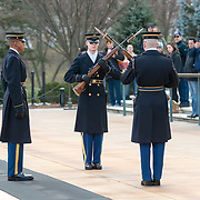 The Changing of the Guard at Arlington National Cemetery, Christmas Day 2018