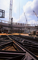 Stock photo of a construction site of Reliant Stadium in Houston Texas