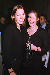 Left to right, the HON.CAMILLA ASTOR and the HON.SELINA TOLLEMACHE, at a party in London on 4th February 1999.MOA 40