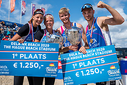 Katja Stam, Raïsa Schoon, Jasper Bouter en Ruben Penninga win the gold medal matches. The Final Day of the DELA NK Beach volleyball for men and women will be played in The Hague Beach Stadium on the beach of Scheveningen on 23 July 2020 in Zaandam.