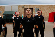 Shadow Drum and Bugle Corps warms up before a show in Sun Prairie, Wisconsin on June 30, 2018. <br /> <br /> Beth Skogen Photography - www.bethskogen.com