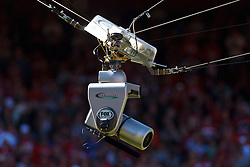 SAN FRANCISCO, CA - OCTOBER 14: Detailed view of a Fox Sports sky camera above the field during the first quarter between the San Francisco 49ers and the New York Giants at Candlestick Park on October 14, 2012 in San Francisco, California. The New York Giants defeated the San Francisco 49ers 26-3. Photo by Jason O. Watson/Getty Images) *** Local Caption ***
