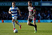 Leeds United defender Stuart Dallas (15)  during the EFL Sky Bet Championship match between Queens Park Rangers and Leeds United at the Kiyan Prince Foundation Stadium, London, England on 18 January 2020.