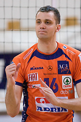 Matej Vidic of ACH at final match of Slovenian National Volleyball Championships between ACH Volley Bled and Salonit Anhovo, on April 24, 2010, in Radovljica, Slovenia. ACH Volley defeated Salonit 3rd time in 3 Rounds and became Slovenian National Champion.  (Photo by Vid Ponikvar / Sportida)