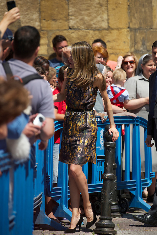 Princess Letizia attends the Opening of the summer courses of the International School of Music of the Prince of Asturias Foundation at Conservatory of Music 'Eduardo Martínez Torner' on July 18, 2013 in Oviedo, Asturias.