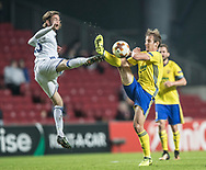 FOOTBALL: Rasmus Falk (FC København) and Josef Hnaníček (FC Zlin) during the UEFA Europa League Group F match between FC København and FC Zlin at Parken Stadium, Copenhagen, Denmark on November 2, 2017. Photo: Claus Birch