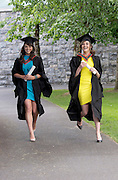 19/06/2014  Eileen Kelly from Kilkee and Laura O Dowd from Sligo with their Bachelor of Science degrees  in Speech and Language Therapy which they  received  from NUI, Galway. Photo:Andrew Downes