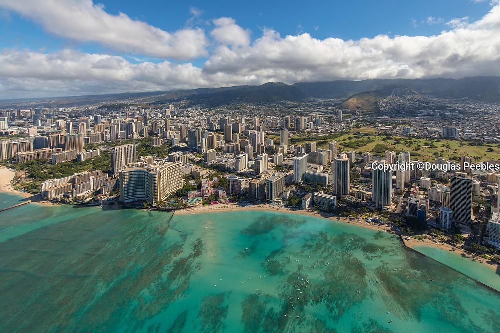 Waikiki, Honolulu, Oahu, Hawaii, aerial