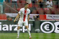 13.06.2015, Nationalstadion, Warschau, POL, UEFA Euro 2016 Qualifikation, Polen vs Greorgien, Gruppe D, im Bild ROBERT LEWANDOWSKI POL RADOSC // during the UEFA EURO 2016 qualifier group D match between Poland and Greorgia at the Nationalstadion in Warschau, Poland on 2015/06/13. EXPA Pictures © 2015, PhotoCredit: EXPA/ Pixsell/ MICHAL CHWIEDUK<br /> <br /> *****ATTENTION - for AUT, SLO, SUI, SWE, ITA, FRA only*****