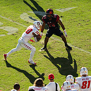 24 November 2017:  The San Diego State football team closed out the season at home against New Mexico for senior day. The Aztecs beat the Lobos 35-10 at SDCCU stadium. www.sdsuaztecphotos.com