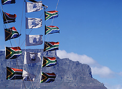 Table Mountain and flags (Credit Image: © Axiom/ZUMApress.com)
