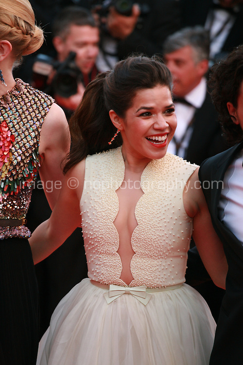 America Ferrera at the the How to Train Your Dragon 2 gala screening red carpet at the 67th Cannes Film Festival France. Friday 16th May 2014 in Cannes Film Festival, France.