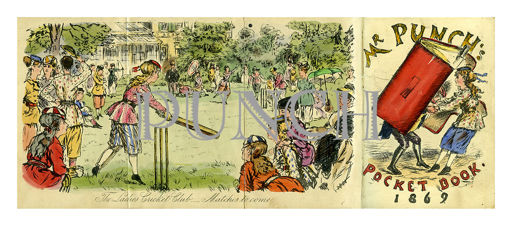 Mr Punch's Pocket Book 1869. The Ladies Cricket Club - Matches to come.