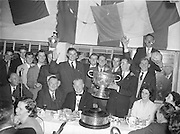 Louth team celebrating their win after the All Ireland Senior Gaelic Football Championship Final Louth v Cork at Croke Park on the 22nd September 1957. Louth 1-09 Cork 1-07.