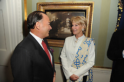 A party to promote the exclusive Puntacana Resort & Club - the Caribbean's Premier Golf & Beach Resort Destination, was held at Spencer House, London on 13th May 2010.<br /> <br /> Picture shows:- FRANK RAINIERI and MRS RUPERT HAMBRO