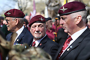 Paras during the demonstration in support of Soldier F by former service personnel in Central Manchester on 19 April 2019.