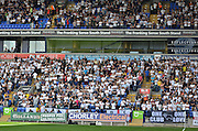 derby fans fill the away stand during the Sky Bet Championship match between Bolton Wanderers and Derby County at the Macron Stadium, Bolton, England on 8 August 2015. Photo by Mark Pollitt.