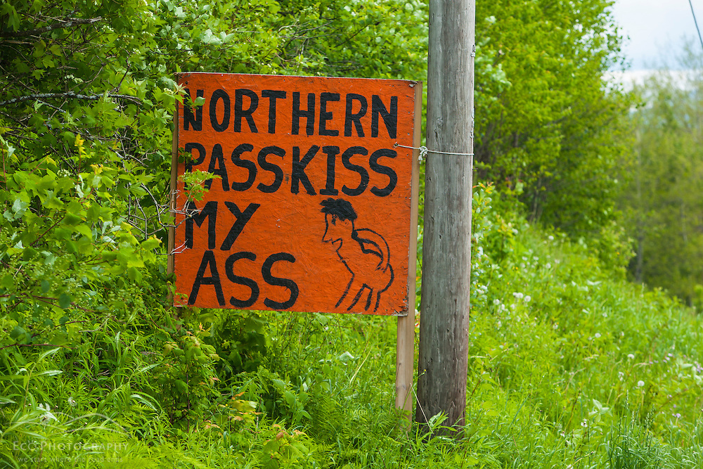 A homemade sign opposing Northern Pass in Stewartstown, New Hampshire.