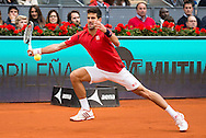 Novak Djokovic during the final of the Madrid Open at Manzanares Park Tennis Centre, Madrid<br /> Picture by EXPA Pictures/Focus Images Ltd 07814482222<br /> 08/05/2016<br /> ***UK &amp; IRELAND ONLY***<br /> EXPA-ESP-160509-0099.jpg