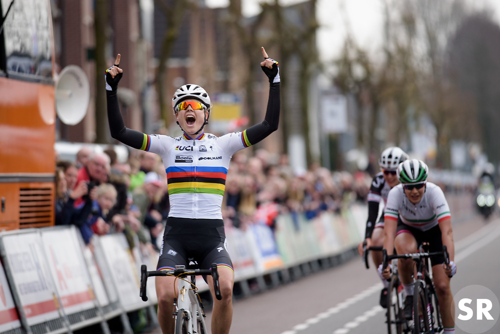 Amalie Dideriksen (Boels Dolmans) wins  Ronde van Drenthe 2017. A 152 km road race on March 11th 2017, starting and finishing in Hoogeveen, Netherlands. (Photo by Sean Robinson/Velofocus)