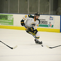4th year forward Colton Sparrow (22) of the Regina Cougars in action during the Men's Hockey home game on November 11 at Co-operators arena. Credit: Arthur Ward/Arthur Images
