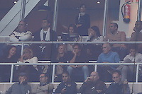 06.01.2013 SPAIN -  La Liga 12/13 Matchday 18th  match played between Real Madrid CF vs  Real Sociedad (4-3) at Santiago Bernabeu stadium. The picture show Irina Shayk girlfriend Cristiano Ronaldo