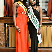 Miss Uganda UK 2019 Caitlin Ochana and Miss Teen Nigeria UK 2019 - Anna-Marie Uzokwe attend the Mr & Miss Congo 2020,on 29th Febryary 2020 at Old Townhall,Stratford, London, UK.