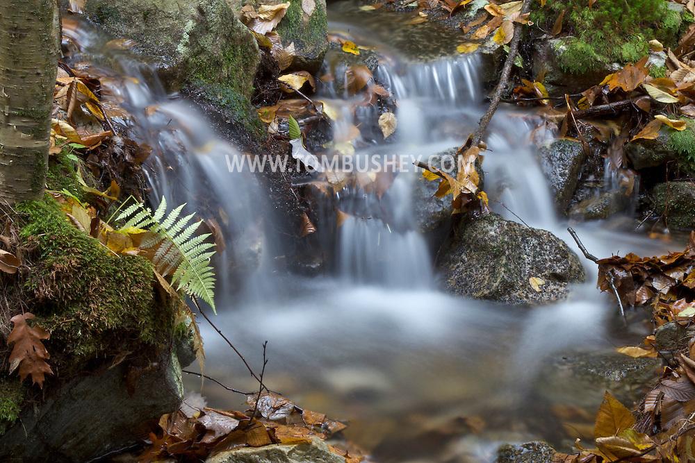 Mount Hope, New York - A small waterfall along the Shawangunk Ridge Trail on Oct. 9, 2012.