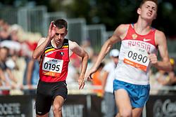 de LOGHT Kevin, BUBNOV Anton, BEL, RUS, 200m, T35, 2013 IPC Athletics World Championships, Lyon, France