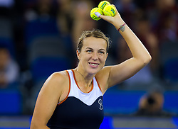 September 26, 2018 - Anastasia Pavlyuchenkova of Russia celebrates winning her third-round match at the 2018 Dongfeng Motor Wuhan Open WTA Premier 5 tennis tournament (Credit Image: © AFP7 via ZUMA Wire)