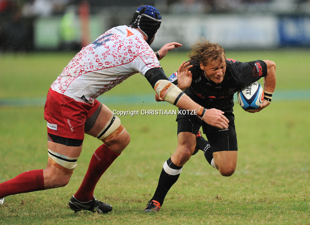 Van Humphries of the Reds, Charl McLeod of the Mr Price Sharks. <br /> &copy;Backpagepix