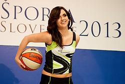 Tina Bastasic during event Miss Sports of Slovenia 2013, on April 20, 2013, in Festivalna dvorana, Ljubljana, Slovenia. (Photo by Urban Urbanc / Sportida.com)