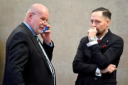 29.01.2019, Landesgericht für Strafsachen, Wien, AUT, Strafprozess gegen ehemaligen Finanzminister Grasser, wegen Bestechungs- und Untreueverdacht bei BUWOG-Privatisierung und Linzer-Terminal-Tower, im Bild (v.l.) Anwalt Manfred Ainedter und Anwalt Norbert Wess // during hearing according to supspect of bribery and breach of trust in case of BUWOG-privatisation at the Landesgericht für Strafsachen in Wien, Austria on 2019/01/29. EXPA Pictures © 2019, PhotoCredit: EXPA/ Roland Schlager/APA-POOL
