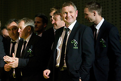 Tomaz Kavcic, Milan Miklavic, Matjaz Kek at official presentation of Slovenian National Football team for World Cup 2010 South Africa, on May 21, 2010 in Congress Center Brdo at Kranj, Slovenia. (Photo by Vid Ponikvar / Sportida)