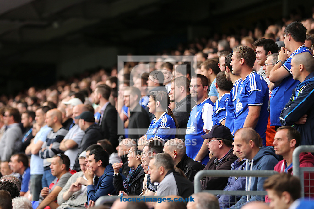 Ipswich Town fans look dejected as Ben Marshall (out of picture) scores the equalising goal in added on time during the Sky Bet Championship match at Portman Road, Ipswich<br /> Picture by Richard Calver/Focus Images Ltd +447792 981244<br /> 18/10/2014