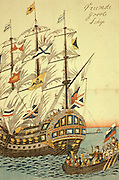 CHICAGO, ART INSTITUTE Japanese print of Dutch ship in 1850