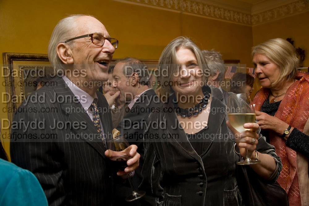 SIR RAYMOND CARR; LADY ANNE CARR, Book launch for American's in Paris by Charles Glass hosted by Lady Annabel Lindsay. Holland Park. London. 25 March 2009 *** Local Caption *** -DO NOT ARCHIVE-© Copyright Photograph by Dafydd Jones. 248 Clapham Rd. London SW9 0PZ. Tel 0207 820 0771. www.dafjones.com.<br /> SIR RAYMOND CARR; LADY ANNE CARR, Book launch for American's in Paris by Charles Glass hosted by Lady Annabel Lindsay. Holland Park. London. 25 March 2009