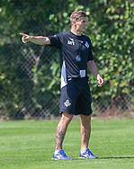 Assistenttræner Mikkel Thygesen (FC Helsingør) under kampen i 2. Division mellem Skovshoved IF og FC Helsingør den 3. august 2019 i Skovshoved Idrætspark (Foto: Claus Birch)
