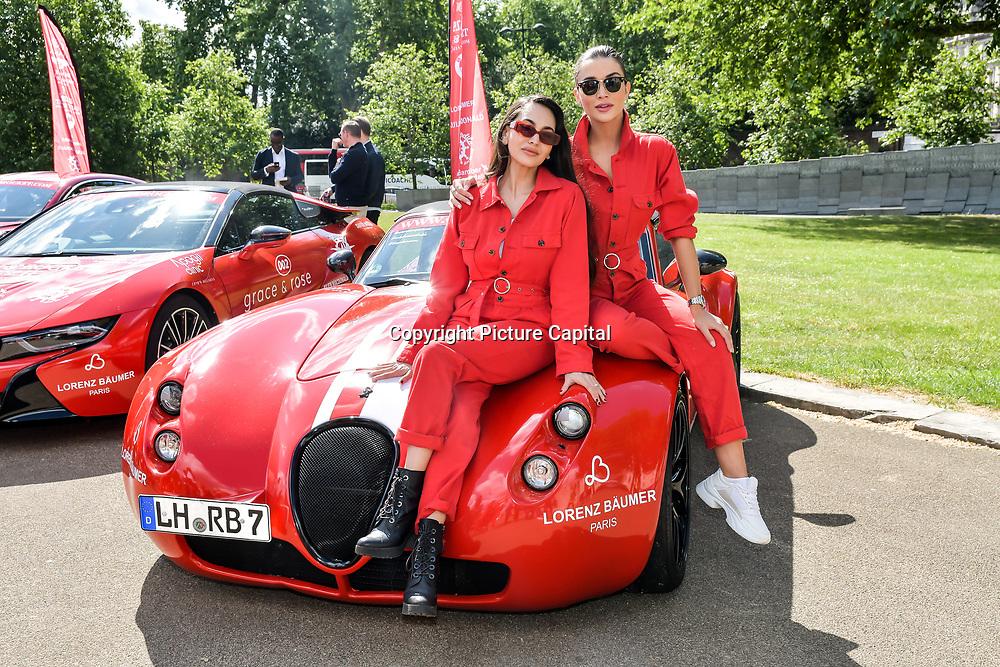 Amy Jackson, Zara Martin attend Cash & Rocket Photocall at Wellington Arch, on 6 June 2019, London, UK